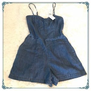 Abercrombie & Fitch Denim Romper/jumpsuit